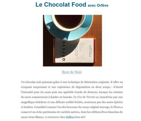 Chocolat Alto Piura 70 Brut de Noir avec tasse de café
